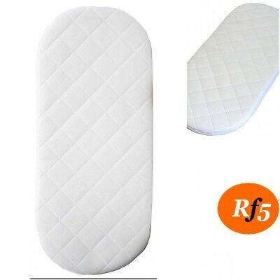 Moses Basket Oval Shape Foam Mattress All Sizes Quilted Cover Baby Mattresses