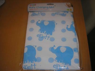 First Steps Folding Baby Changing Mat Size 67cm x 47cm - White With Blue Design