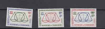 Cambodia 1963 Declaration Of Human Rights Set Mint Never Hinged