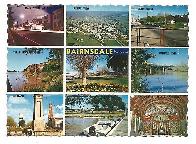 VIC - c1970s POSTCARD - HIGHLIGHTS OF BAIRNSDALE AND DISTRICT, VICTORIA