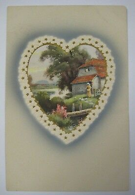 Vintage Early 1900's Valentine's Day Postcard Antique MEISSNER & BUCH Germany