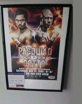 Manny Pacquiao signed and framed fight poster with COA!!