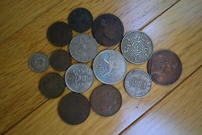 Lot of 14 United Kingdom/Great Britain Coins