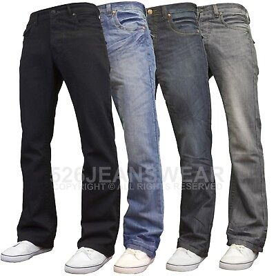 APT Mens Designer Branded Basics Regular Fit Bootcut Jeans