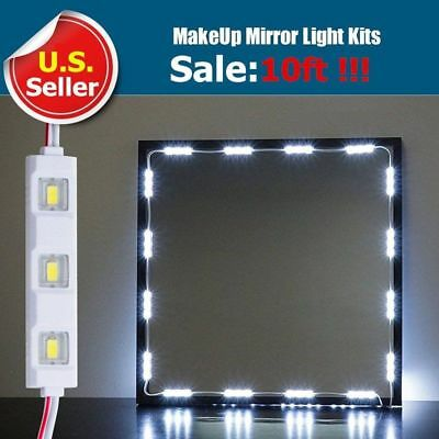10FT LED white Dressing Mirror Cosmetic Makeup Vanity light+remote+power TO
