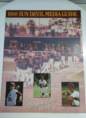 Arizona State Baseball College Souvenir Yearbook 1988  Staying late in 88 N2