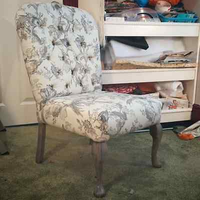Vintage nursing bedroom chair reupholstered with Porter and Stone fabric