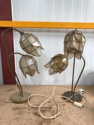 2 Vintage / Antique Brass Lamps Untested Spares Or Repairs