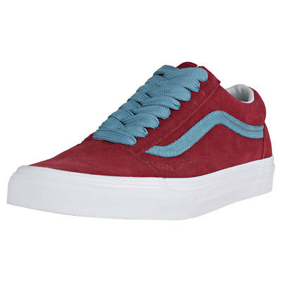 008520a61b02 Vans Old Skool Oversized Lace Burgundy Suede Trainers