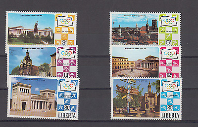 Liberia 1972 Olympic Games Cities Complete Set Mint Never Hinged