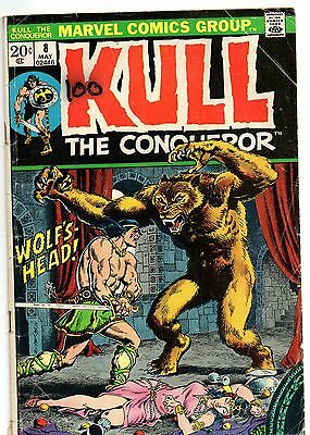 Kull the Conqueror  #8 1972, Marvel Good/VG