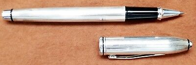 CROSS PEN Townsend Sterling Silver Rollerball Tight Cap and Clip, Near Mint