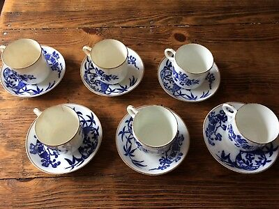 Genuine Victorian China Set of Cups and Saucers