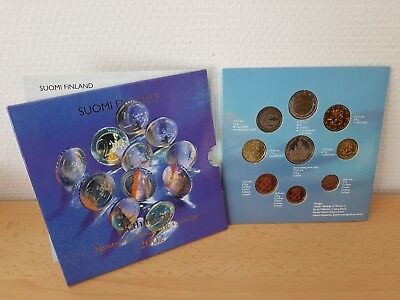 2002 KMS FINNLAND OFFIZIELL 8 Nominale 1 ct. - 2 € = 3,88 EURO + TOKEN OVP