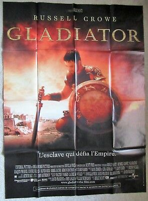 Gladiator Original 2000 F-Grande Movie Poster Fld Russell Crowe Ridley Scott Ex