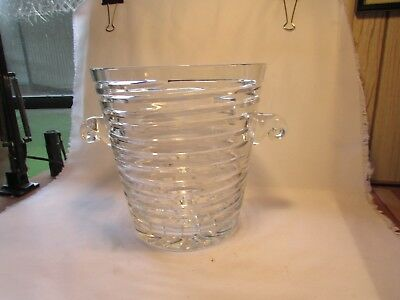 Block 24 Full Lead Crystal Vase Hand Made In The Czech Republic