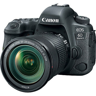 Canon EOS 6D Mark II Digital SLR Camera with EF 24-105mm f/3.5-5.6 Lens