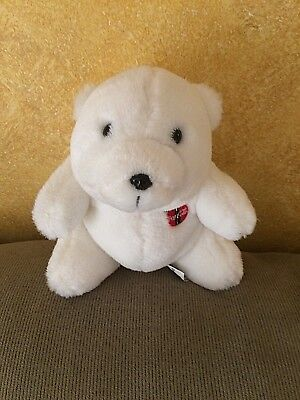 "Vintage License Coca Cola 1993 Polar Bear Stuffed Plush 8"" Coke Collectible Mint"
