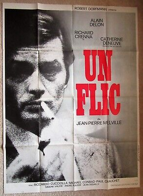 Dirty Money Original 1972 F-Grande Movie Poster Fld Alain Delon Vg
