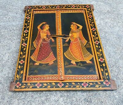 Vintage Beautiful Handmade & Painted Dancing Tribal Ladies Architectural Window