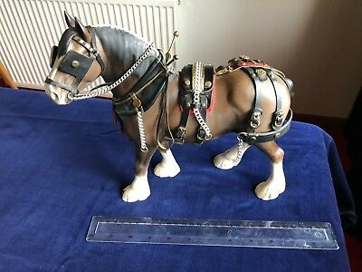 Beswick Clydesdale Shire Horse 2465 in Show Harness