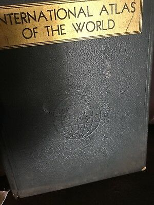 Vintage 1937 International atlas of the world