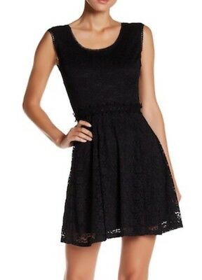 NWT Nordstrom Paper Doll Just For Wraps Sleeveless Black Lace Dress Size XL