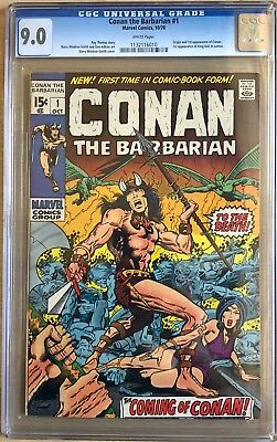 Conan the Barbarian #1 CGC 9.0 WHITE; 1st CONAN; 1st King Kull; Origin of Conan!