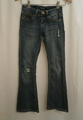 Vigoss Girls 'The Jagger Flare' Casual Stretch Denim Blue Jeans 5 Pocket size 7