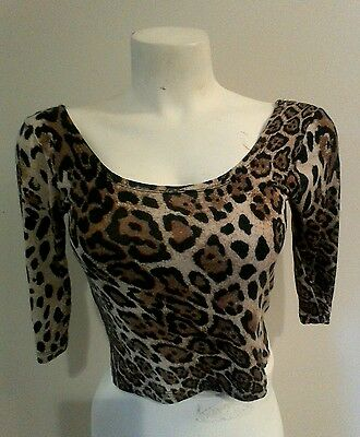 GalsJ/m Top Stretchy Animal Print Now 4 Date Time Best Must Have Your Best Move