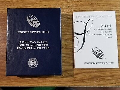 2014 American Eagle Sliver coin
