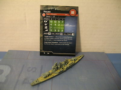 "Axis and Allies War at Sea ""New Starter"" Haguro (7/8) Game Piece & Card"
