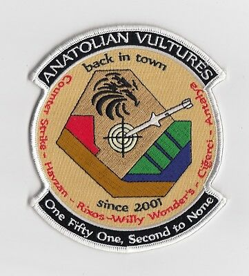 Turkish Air Force - 151 Filo Squadron patch  -  Anatolian Vultures back in town