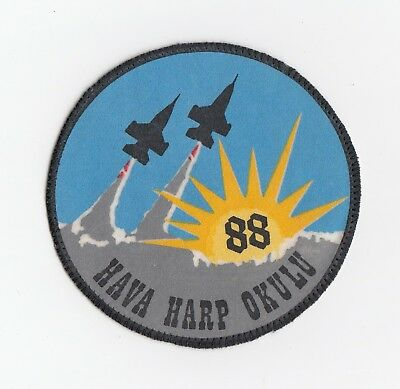 Turkish Air Force -  Exercise Hava Harp Okulu 1988 patch  - Air Defense Exercise