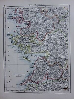 1901 Victorian Map Ireland Galway Mayo Clare