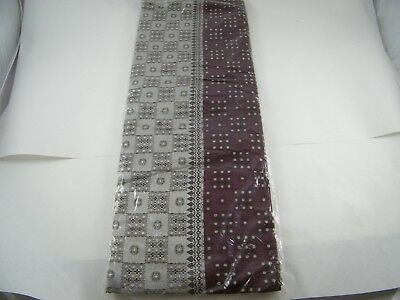 Beautiful Embroidered Polyester Saree With Metallic Weaving Purple And Silver