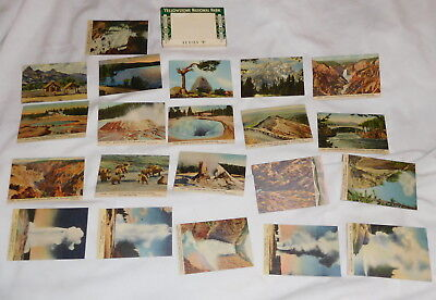 vintage Yellowstone National Park Series B 20 minature picture cards with mailer