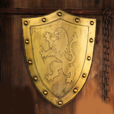 D24 Europe Retro Medieval Shield Antique Knight Armour Wall Home Decor Full Size