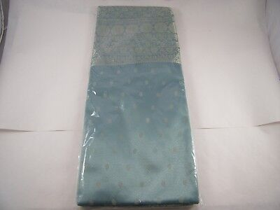Beautiful Embroidered Polyester Saree Teal And Silver