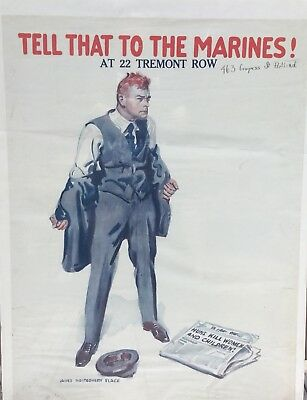 WWI Tell That To The Marines Recruiting Poster