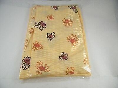 Beautiful Embroidered Polyester Saree Tan And Peach And Gold Stripes