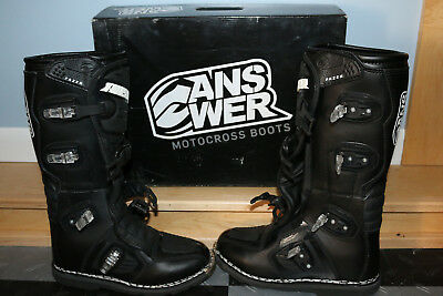 NEW W/BOX Motocross Boots ANSWER Fazer motorcycle riding size youth boys size 13