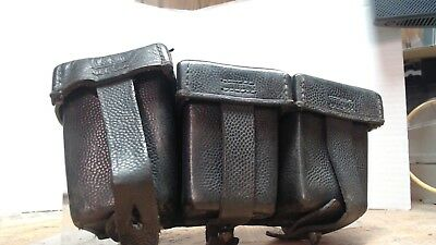 WWI Imperial German Mauser Three Pocket ammo pouch unit & maker marked