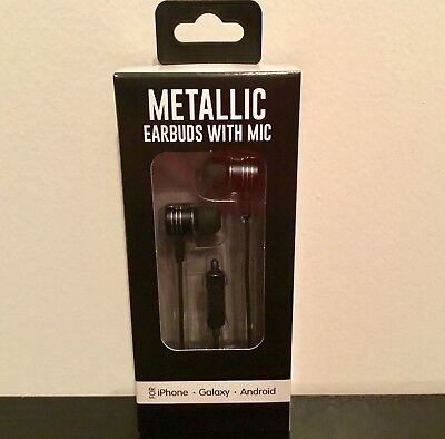 Metallic Earbuds With Mic