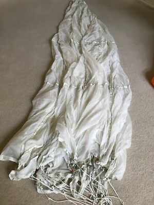 Military White Parachutte With Line and Carry Bag Car and Boat Cover Canopy