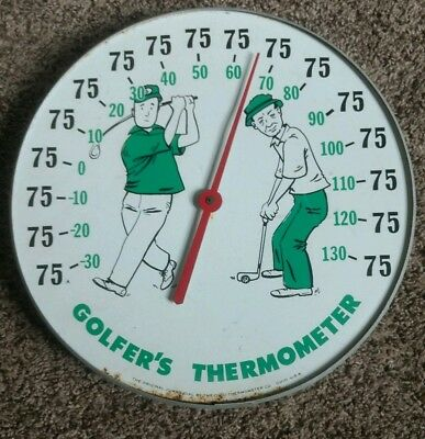 Vintage Original Jumbo Dial GOLFER'S THERMOMETER