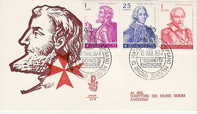 Sovereign Military Order of Malta SMOM FDC 1974 Christmas Grand Masters (b)