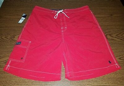 Polo Ralph Lauren Swimming Board Trunks Red Men's Size XX-Large (2XL) NWT Pony