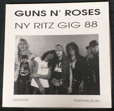 Guns N Roses Live In Ny Ritz Gig 88 Promo Limited Edition Four 7' Vinyl Box Set