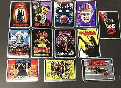 Lot Of 12  Horror Movie Prism  Stickers
